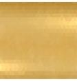 Gold metallic background vector image vector image