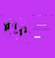 graduation concept - line design style isometric vector image