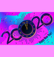 greeting card 2020 happy new year vector image