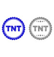 grunge tnt scratched stamp seals vector image vector image