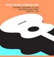 guitar musical template with space for your type vector image vector image