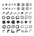 hand drawn doodle style check mark set isolated on vector image vector image