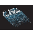 Handwritten winter lettering vector image