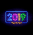 happy new year 2019 in colorful trend vector image
