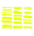 Highlighter brush lines hand drawing