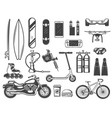 hoband entertainment items or devices sketches vector image