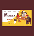 hr interview talking with a job applicant vector image