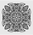 image doodle drawing for coloring the floral vector image vector image