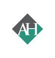 initial ah rhombus logo design vector image