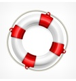 Life buoy on white vector image vector image