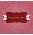 March 8 Womens Day red greeting Card vector image