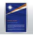 marshall islands flag design vector image