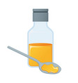 medical mixture concept icon and label health vector image vector image