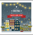 Merry Christmas and Happy New Year greeting card 5 vector image vector image