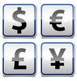 Money icon board vector image vector image