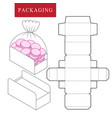 package for bakery boxpackage vector image