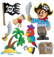 pirate thematics collection 1 vector image vector image