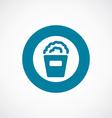 popcorn icon bold blue circle border vector image