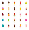popsicle ice cream stick icons set flat style vector image vector image