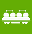rail wagon for cement icon green vector image vector image