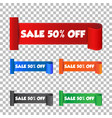 sale 50 off sticker label on isolated background vector image vector image