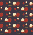 seamless pattern of exotic tropical fruit vector image vector image