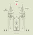 st pauls church in aarhus denmark vector image vector image