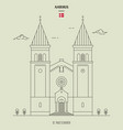 st pauls church in aarhus denmark vector image