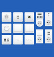 switches and sockets set all types ac power vector image vector image