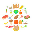 sylviculture icons set cartoon style vector image vector image
