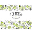 tea icons vector image vector image