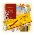 time to travel concept vacation in egypt vector image