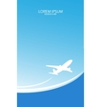 Travel ticket vector image