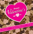 Valentines Day on colorful Heart chocolateparty vector image vector image