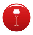 wine glass icon red vector image vector image