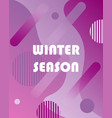 winter background with gradients vector image