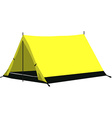 Yellow camping tent vector image vector image