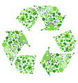 green eco recycling symbol vector image