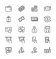 money thin icons vector image