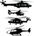 helicopters vector image