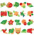 set of sale discount labels vector image