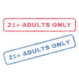 21 plus adults only textile stamps vector image vector image