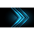 abstract blue neon light arrow direction on black vector image