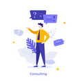 abstract character concept vector image