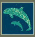 animal whale clip art vector image