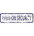 Aviation security stamp vector image