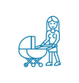 baby care linear icon concept baby care line vector image vector image
