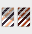 brochure design template abstract triangles vector image vector image