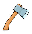 cartoon ax hatchet symbol icon design vector image vector image