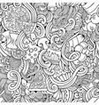 Cartoon doodles of italian cuisine seamless vector image vector image